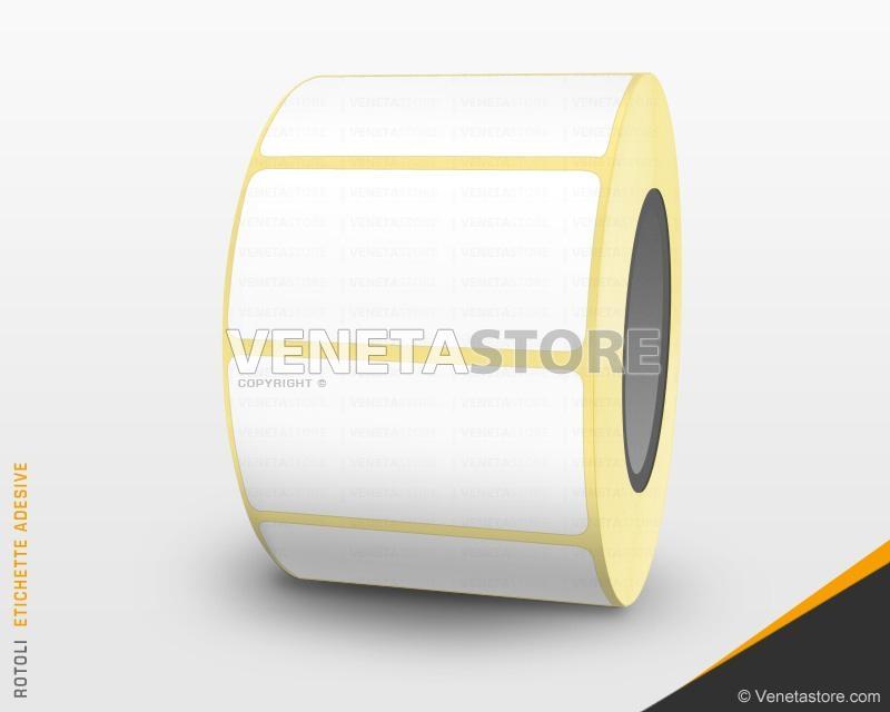 Rotoli bilancia carta termica adesiva foro anima mm 62 x 40 mt 25 mm PZ 30