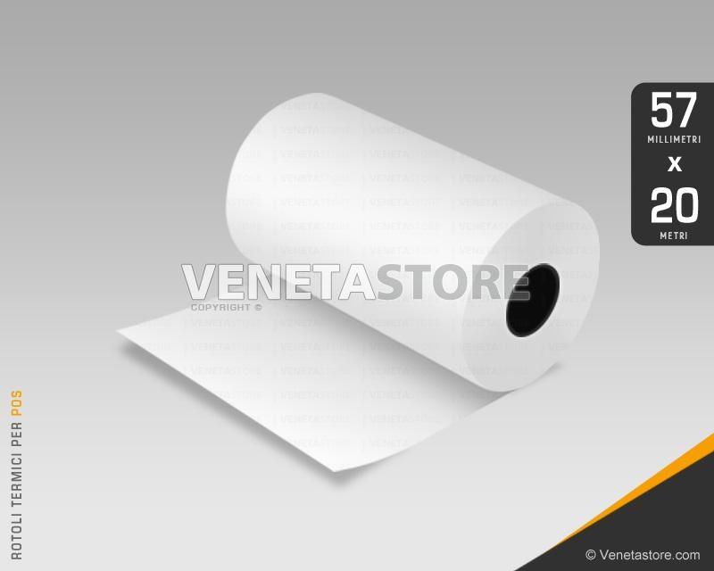 Rotoli carta termica 57x20