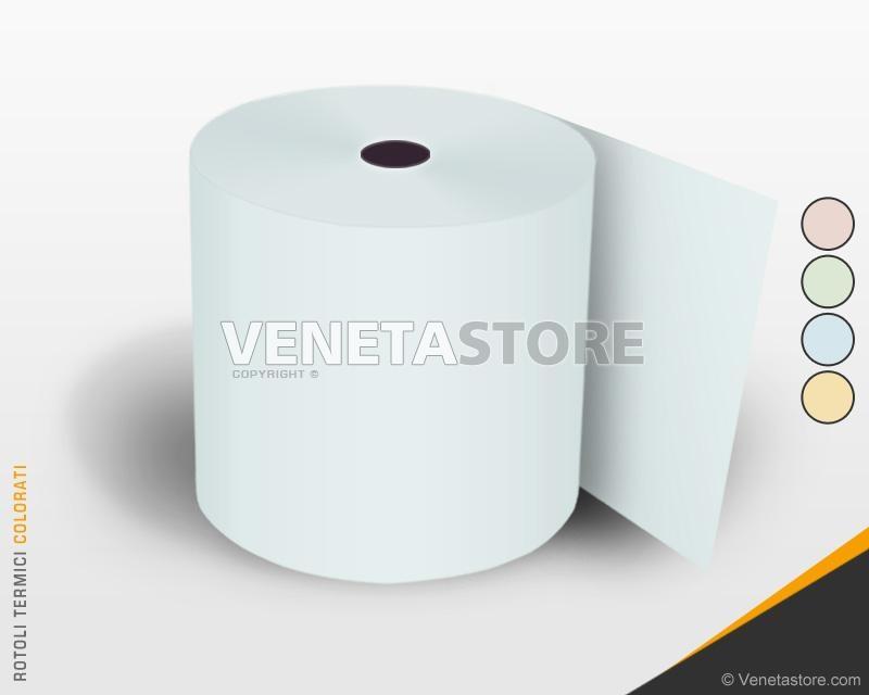 Rotoli Di Carta Colorata : Rotoli in carta termica colorata mm metri non omologata